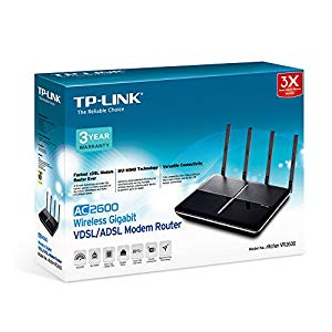 TP-LINK AC2600 Dual Band Wireless MU-MIMO Gigabit VDSL/ADSL Modem